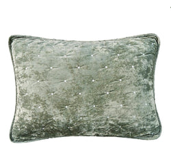 Tache Velvet Dreams Light Green Plush Diamond Tufted Pillow Sham (JHW-853G) - Tache Home Fashion