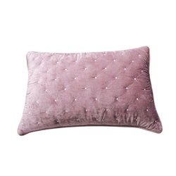 Tache Purple Mauve Velvety Dreams Luxury Velveteen Plush Diamond Tufted Pillow Sham (JHW-853P-Sham)