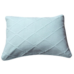 Tache Seafoam Blue Soothing Pastel Cotton Diamond Stitch Pattern Pillow Sham (JHW-856-Sham)