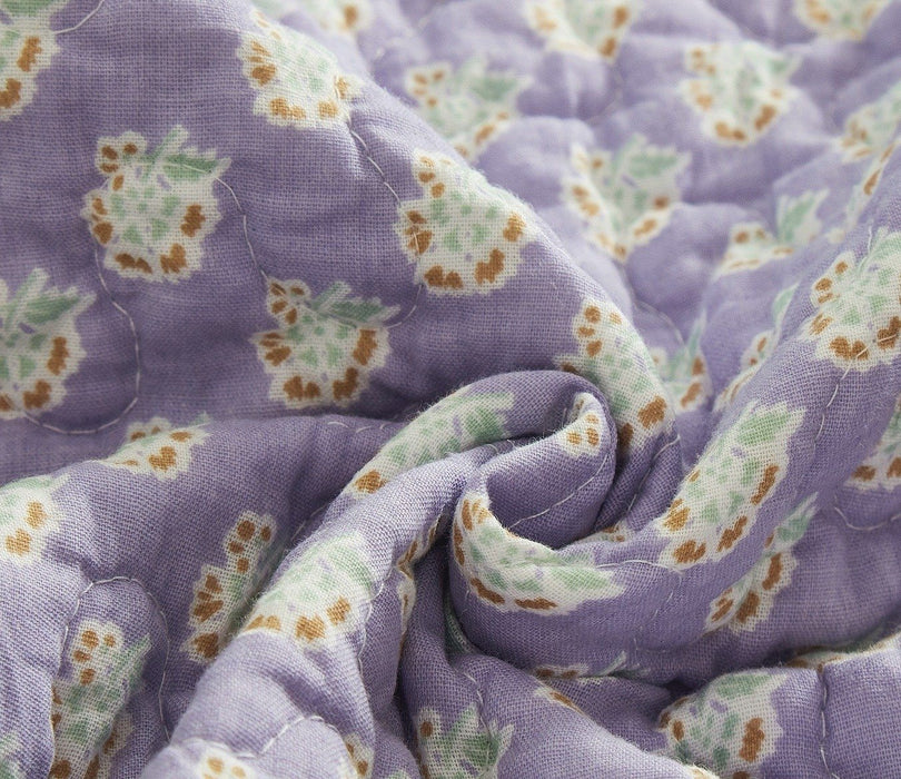 Tache Cotton Patchwork Paisley Floral Navy Blue Pastel Bohemian Night Flower Quilt (JHW-882) - Tache Home Fashion