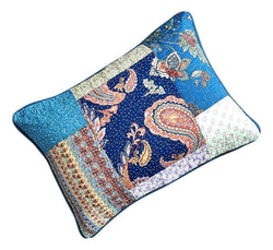 Tache Cotton Patchwork Paisley Bohemian Night Flower Pillow Sham (JHW-882) - Tache Home Fashion