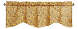 Tache Cotton Mustard Yellow Ditsy Floral Sheer Window Treatment Prairie Sunset Valance (JHW-887)