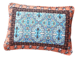 Tache Cotton Patchwork Paisley Floral Bohemian Mosaic Paradise Pillow Sham (JHW-933) - Tache Home Fashion
