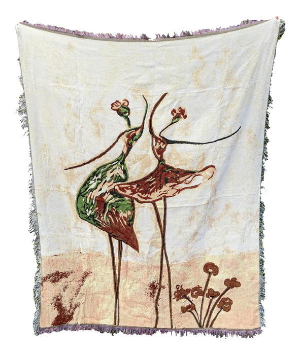 Tache Abstract Art Ballet Dancers Afghan Tapestry Throw Blanket with Fringe (2500)