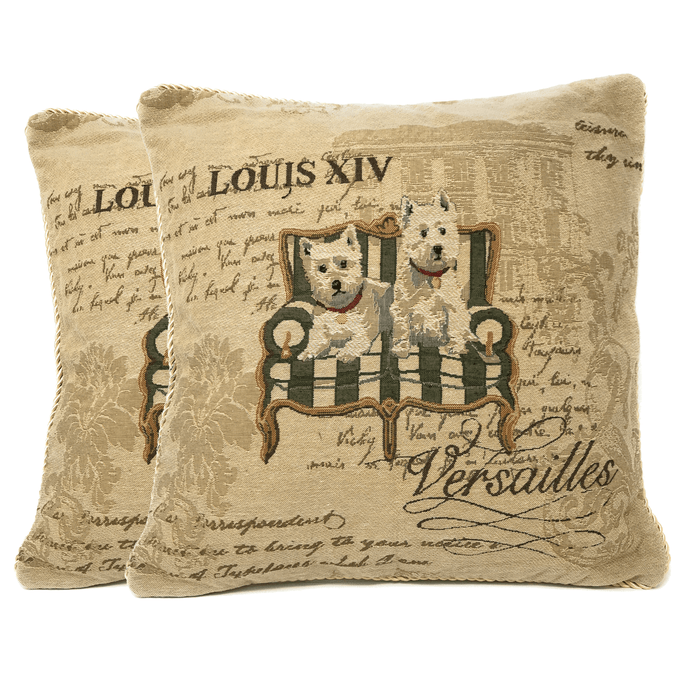 Tache Royal Pawness Tapestry Throw Pillow Cushion Cover (CC-12686) - Tache Home Fashion