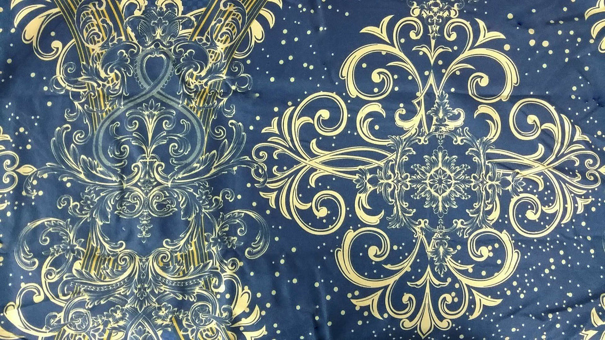 Bed Sheet - Tache 2-3 PC Star Gazing Blue Yellow Luxurious Fancy Fitted Sheet Set