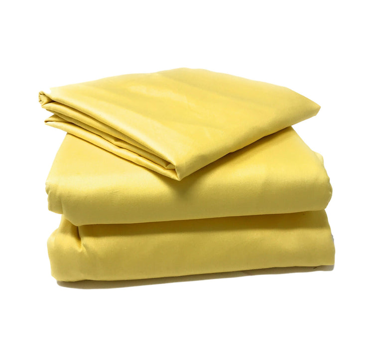 Tache 2-3 Piece Cotton Banana Yellow Bed Sheet (Fitted Sheet) (TABS3PC-YY) - Tache Home Fashion