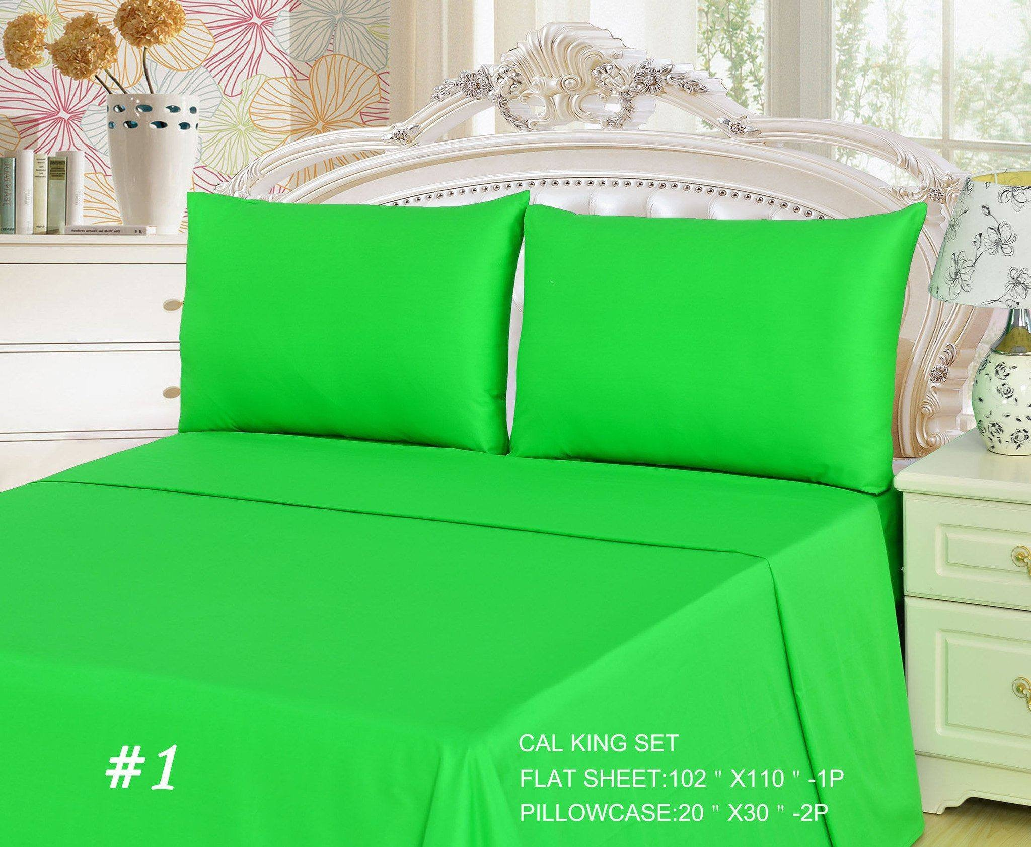 Perfect Lime Green Cotton Sheets