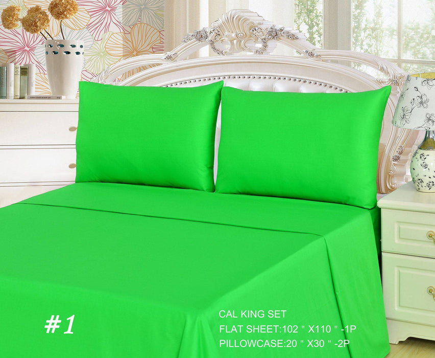 Etonnant ... Tache 2 3 Piece Cotton Solid Lime Green Bed Sheet (Flat Sheet) ...