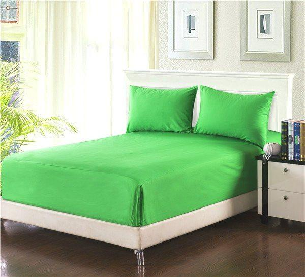 Tache 2 3 Piece Lime Green Bed Sheet Fitted Sheet Bs3pc Gg