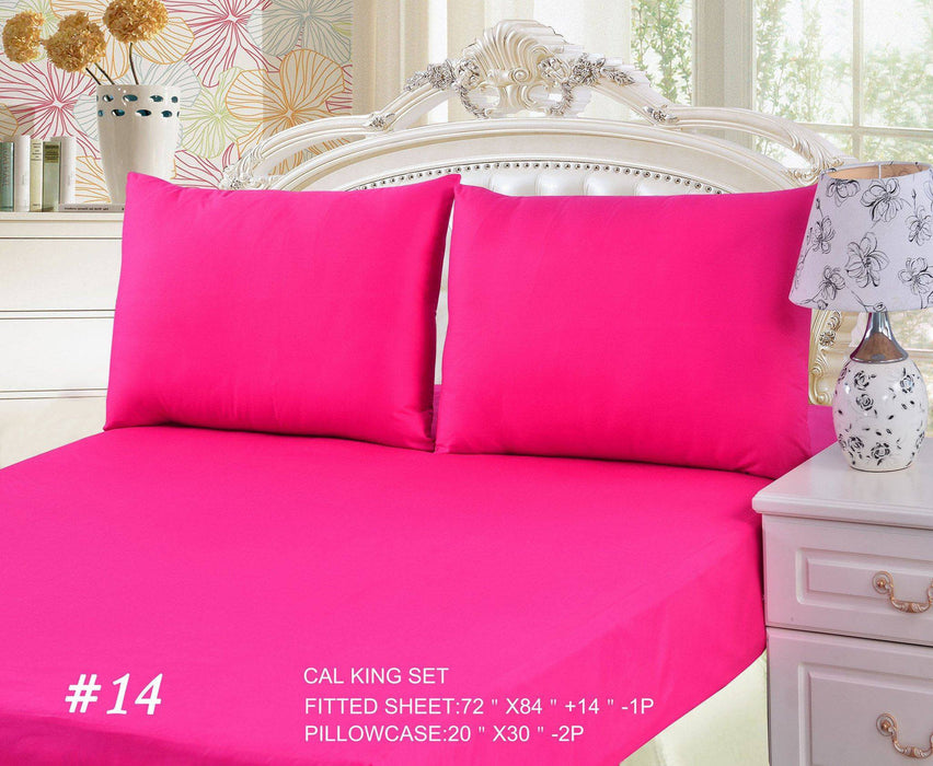Tache 2 3 Piece Cotton Pink Superstar Bed Sheet Fitted