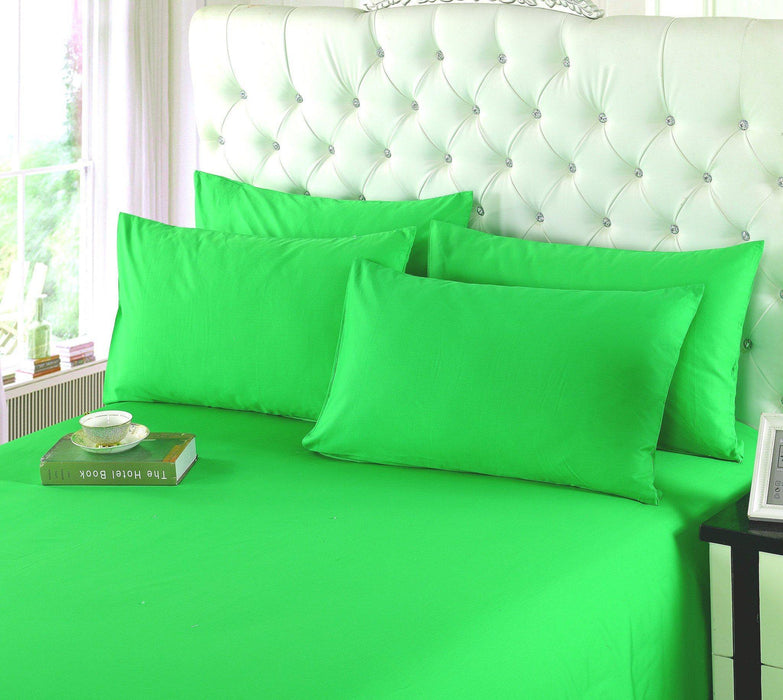 ... Tache 3 4 Piece Cotton Solid Lime Green Bed Sheet Set (TABS4PC GG ...
