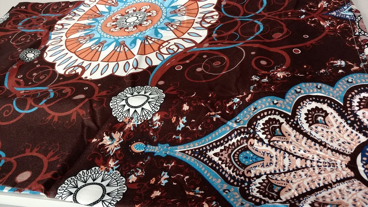 Tache Burgundy Palace Paisley Medallion Fitted and Flat Sheet Set (2810FITFLT) - Tache Home Fashion
