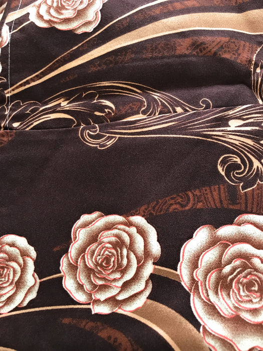 Tache Melted Gold Brown Floral Fitted and Flat Sheet Set (2815FITFLT) - Tache Home Fashion