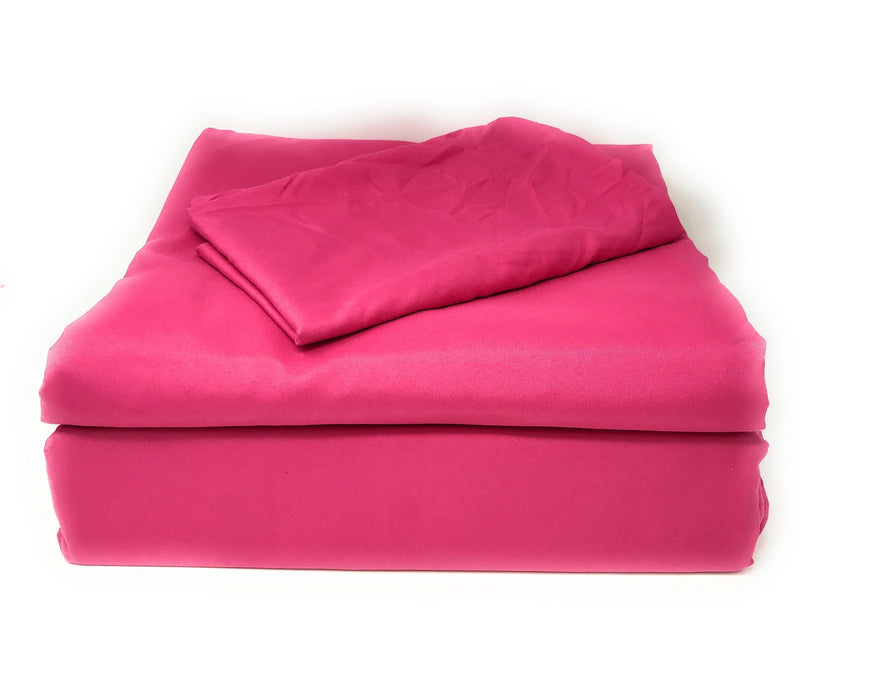 Tache Microfiber Rose Pink Bed Sheet Set (505-RP-BSS) - Tache Home Fashion