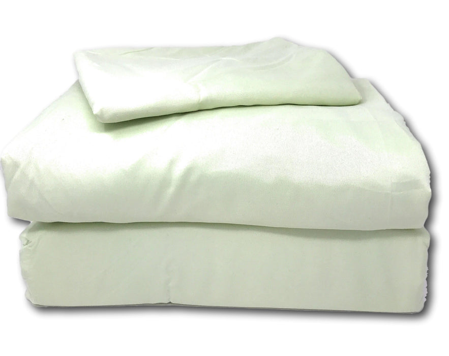 Tache Microfiber Sage Green Bed Sheet Set (202-SG-BSS) - Tache Home Fashion