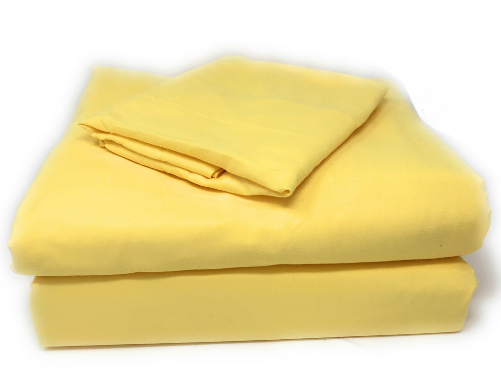 Tache 3-4 Piece Sunny Yellow Sheet Set (404-YS-BSS) - Tache Home Fashion