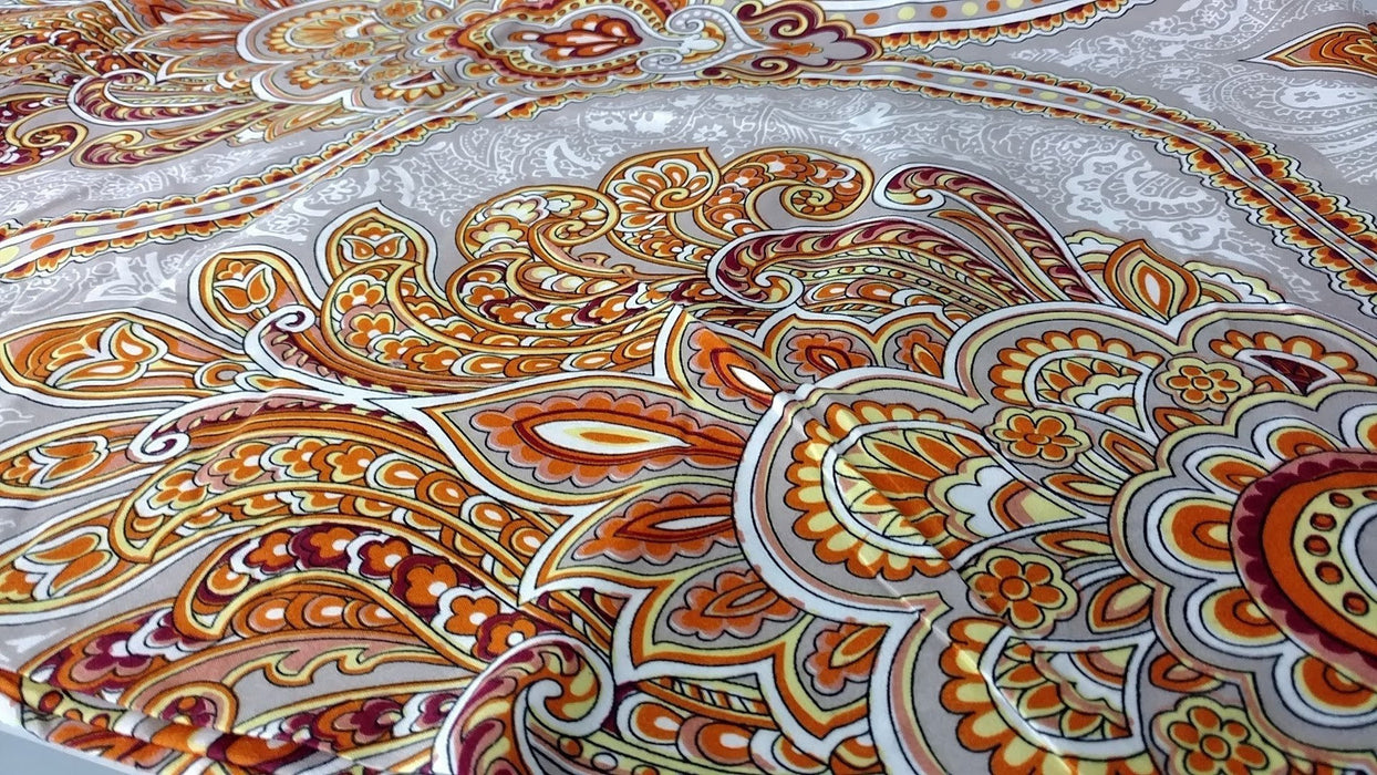 Tache Sunshine Festival Gold Paisley Bed Sheet Set (2811FITFLT) - Tache Home Fashion