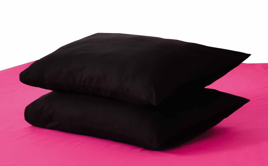 Tache Black Cotton Pillowcase (10012BC) - Tache Home Fashion