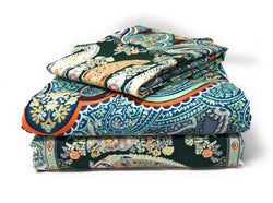 Tache Paisley Monarc Flat Sheet Set (2814FLT) - Tache Home Fashion