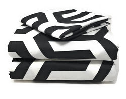 Bed Sheet - Tache Sophisticated Condo Monochrome Fitted Sheet (2141FIT)