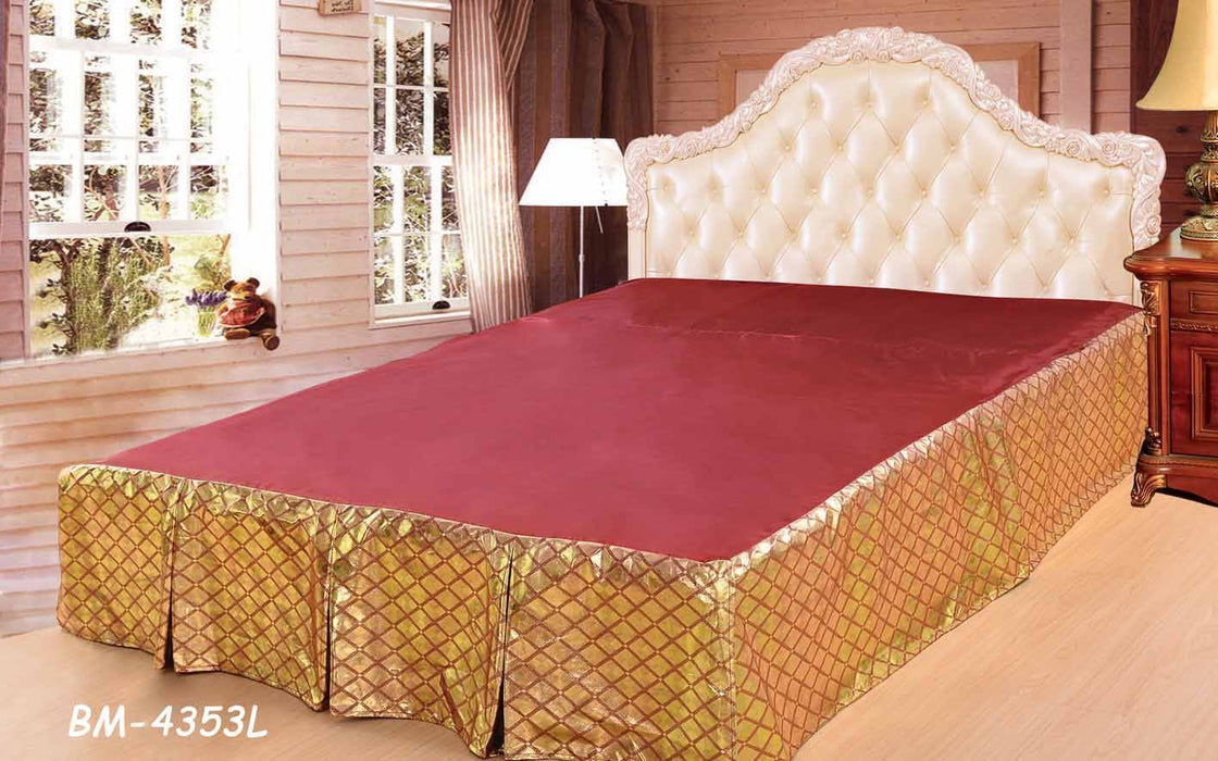 Tache Golden Diamond Net Bed Skirt (BSK-4353LC) - Tache Home Fashion