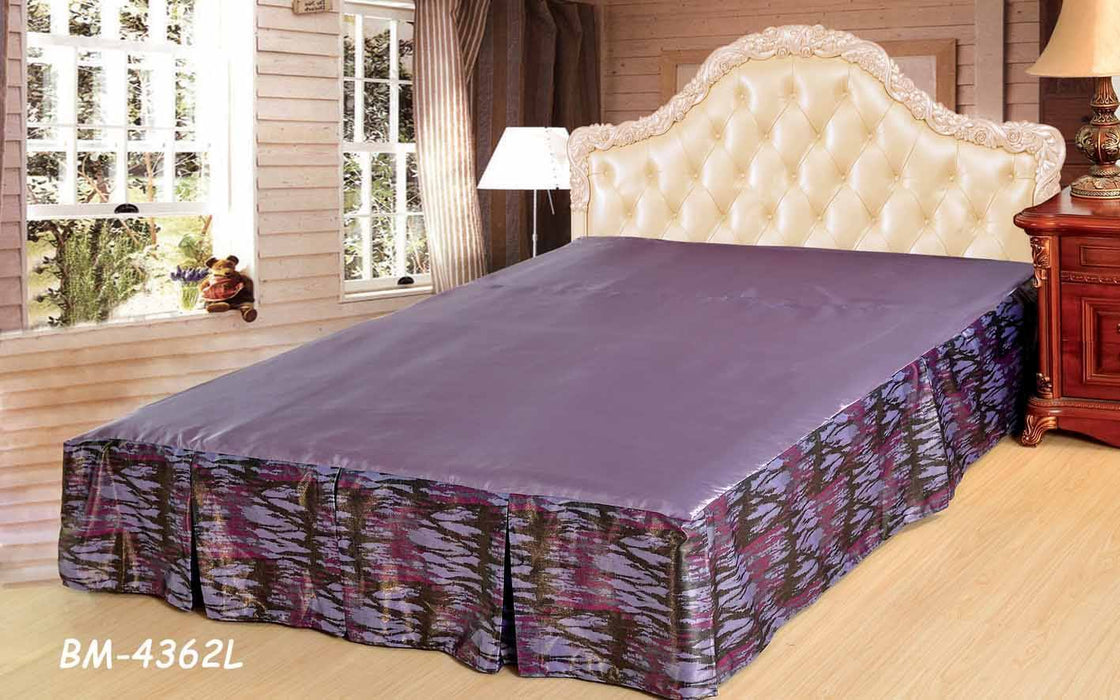 Tache Mixed Purple Bed Skirt (BSK-4362L) - Tache Home Fashion