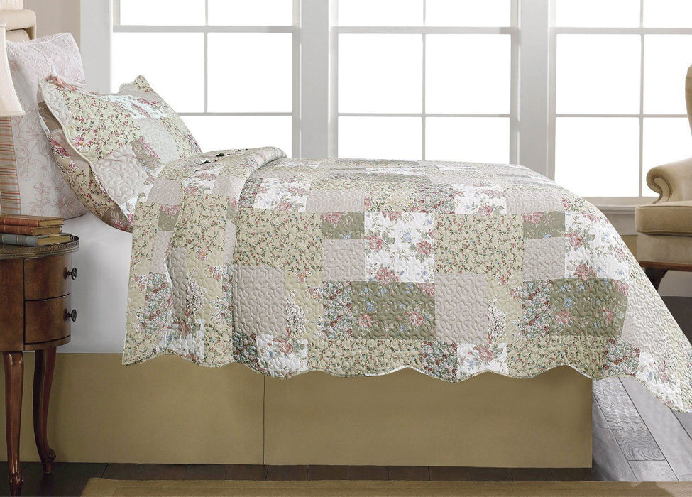 Tache Flora's Outing Floral Bedspread Set (HS1366) - Tache Home Fashion