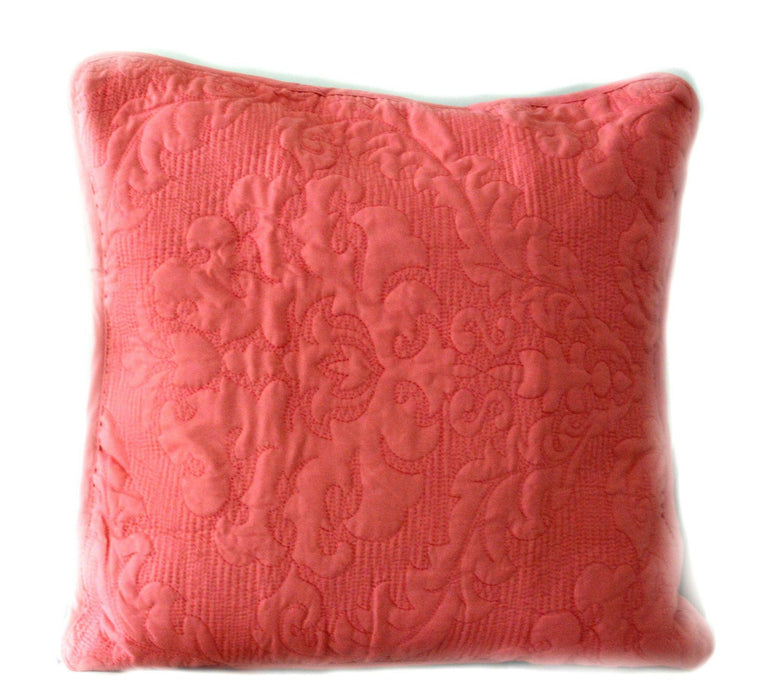 Tache 2 Piece Light Pink Luxembourg Coral Cushion Covers (Luxembourg-CC) - Tache Home Fashion