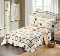 Tache Cotton White Modern Summer Storm Bedspread Quilt Set (DSW019) - Tache Home Fashion