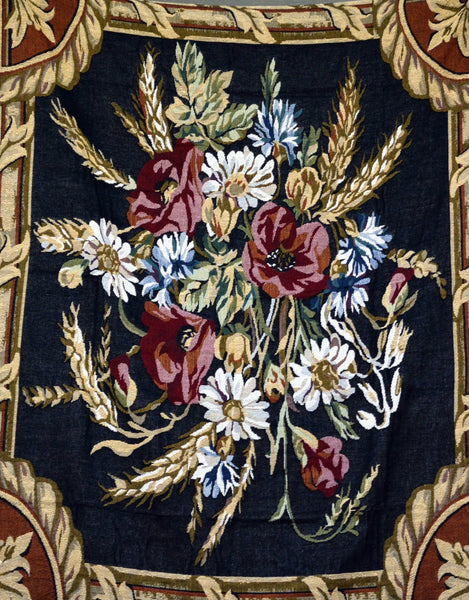 Blanket/ Throw - Tache 1 Piece 50 X 60 Inch Floral Harvest Tapestry Throw