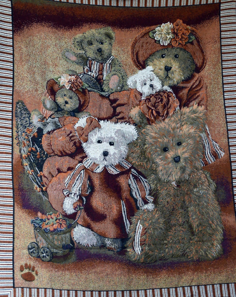 Blanket/ Throw - Tache 1 Piece 50 X 60 Teddy's Collection Tapestry Throw