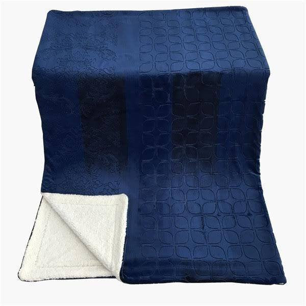 Blanket/ Throw - Tache Faux Fur Cozy Night Blue Soft Throw Blanket