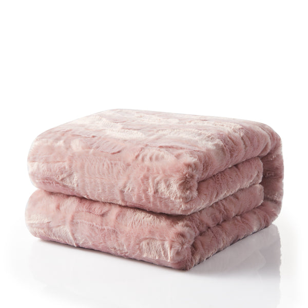 Tache Faux Fur Dusty Rose Pink Throw Blanket 40 Tache Home Fashion Adorable Dusty Pink Throw Blanket