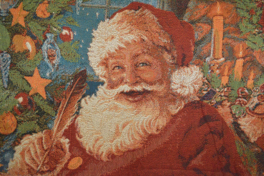 "Tache Festive Christmas Old St Nick Tapestry Throw 50 x 60"" (3340) - Tache Home Fashion"