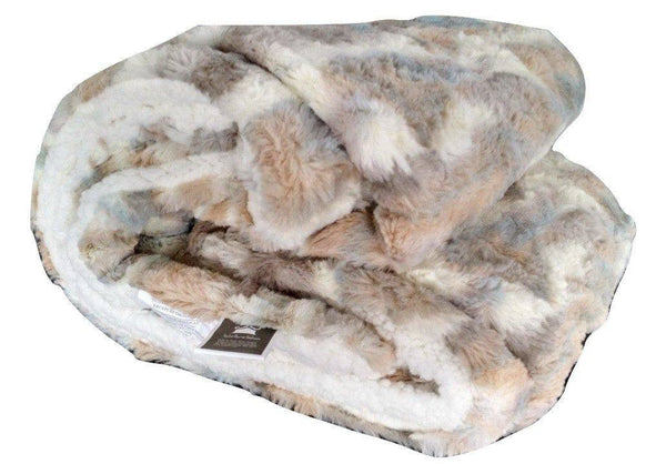Blanket/ Throw - Tache Luxurious Russian Lynx Faux Fur Throw Blanket