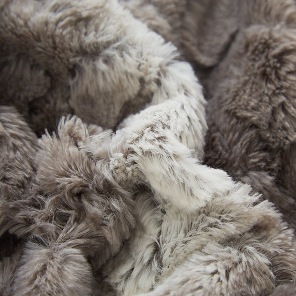 Tache Silver Snow Giraffe Faux Fur Throw Blanket Dy16