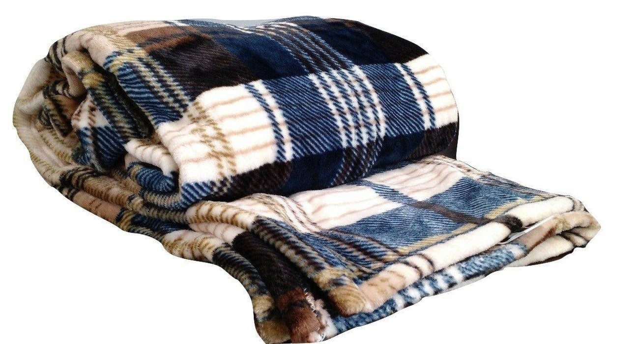 Tache Super Soft Winter Cabin Flannel Throw Blanket - Tache Home Fashion