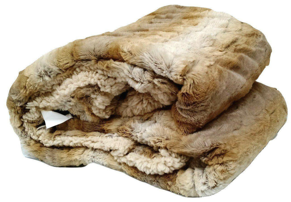 Blanket/ Throw - Tache Threshold Beige Faux Fur Throw Blanket