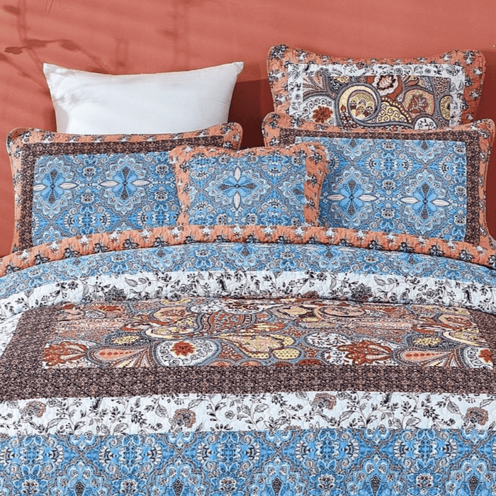 Tache Cotton Patchwork Paisley Floral Bohemian Mosaic Paradise Cushion Cover 2-Pieces (JHW-933) - Tache Home Fashion