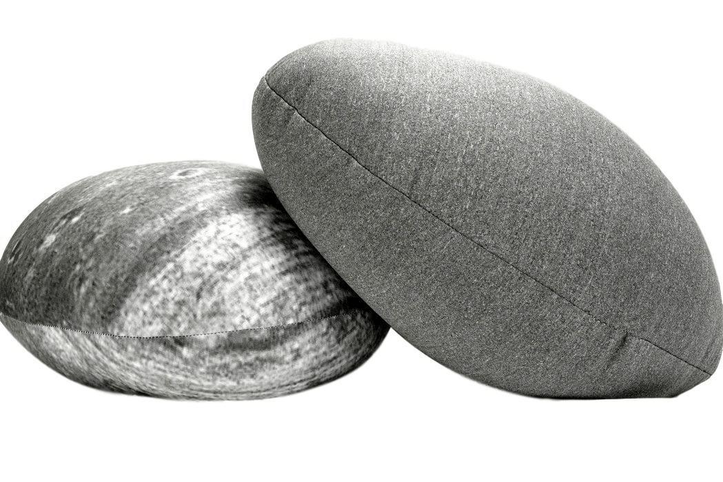 Tache Novelty Realistic Pebble Rock Stone Grey Throw Pillow - Tache Home Fashion