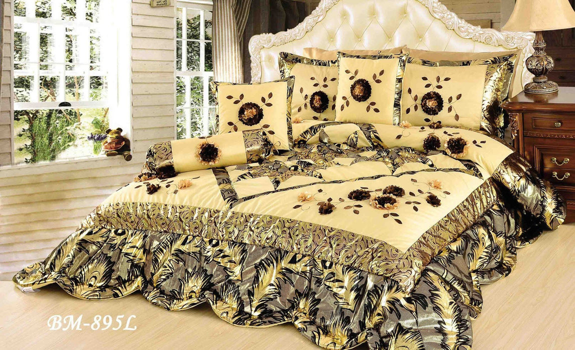 Tache 4-6 Piece Autumn Falls Patchwork Comforter (BM-895L) - Tache Home Fashion