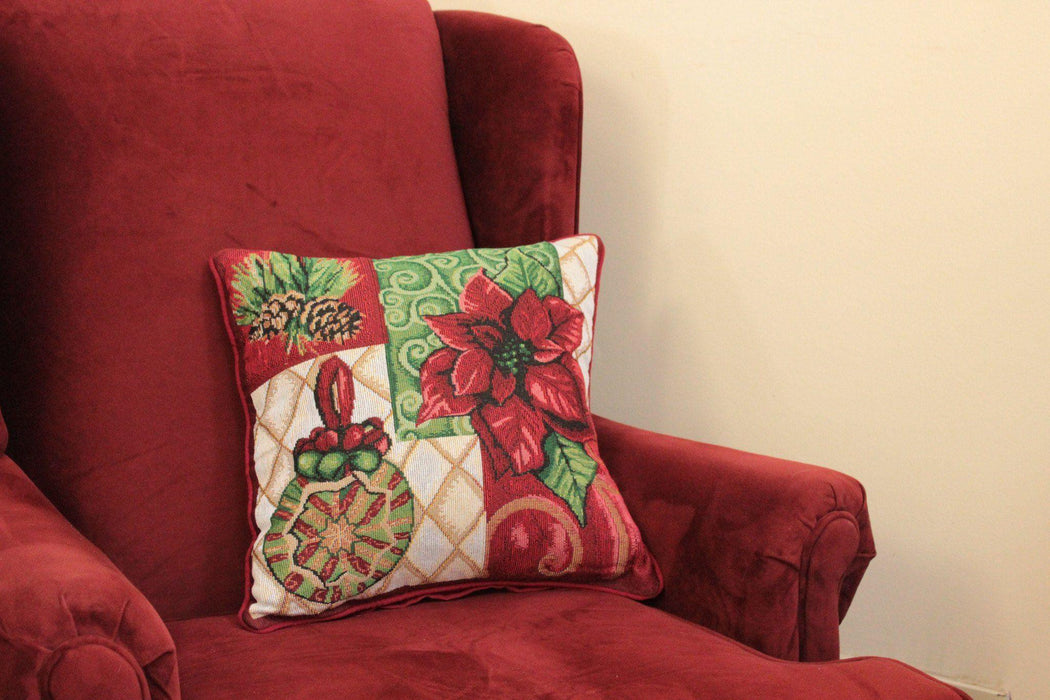 Tache 16 X 16 Inch Christmas Festive Holiday Tidings Cushion Cover (TADB12900CC-1616) - Tache Home Fashion
