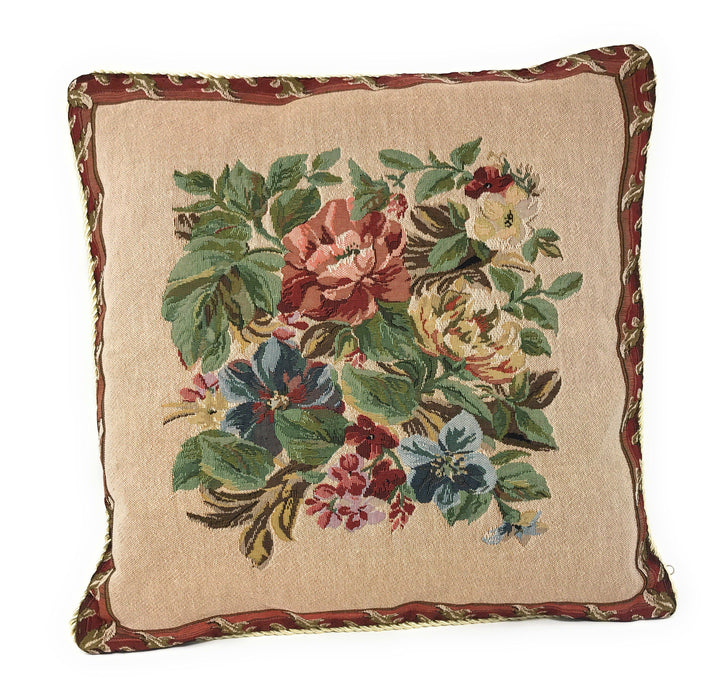 Tache 18 x18 Inch Festive Red Yuletide Blooms Cushion Covers ( TADB3098CC-B-4545 ) - Tache Home Fashion