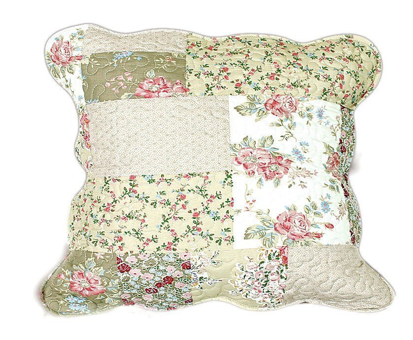 Cushion Cover - Tache 2 Piece Matelasse Flora's Outing Floral Cushion Cover Set