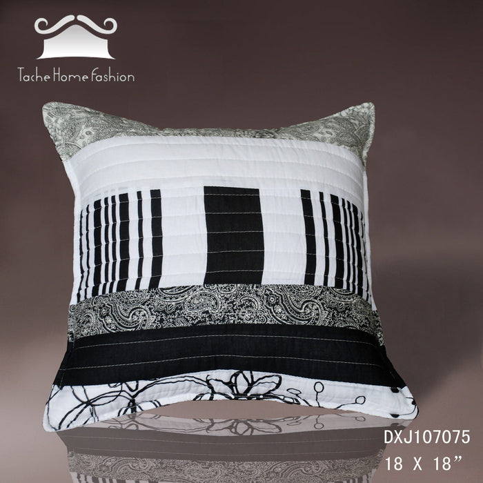 Tache 2 Pieces 100% Cotton New York Penthouse Cushion Cover (CCNY-DXJ107075) - Tache Home Fashion