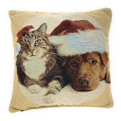 Tache Best Friend Christmas 18 x 18 Inch Throw Pillow Cushion Cover (16461) - Tache Home Fashion