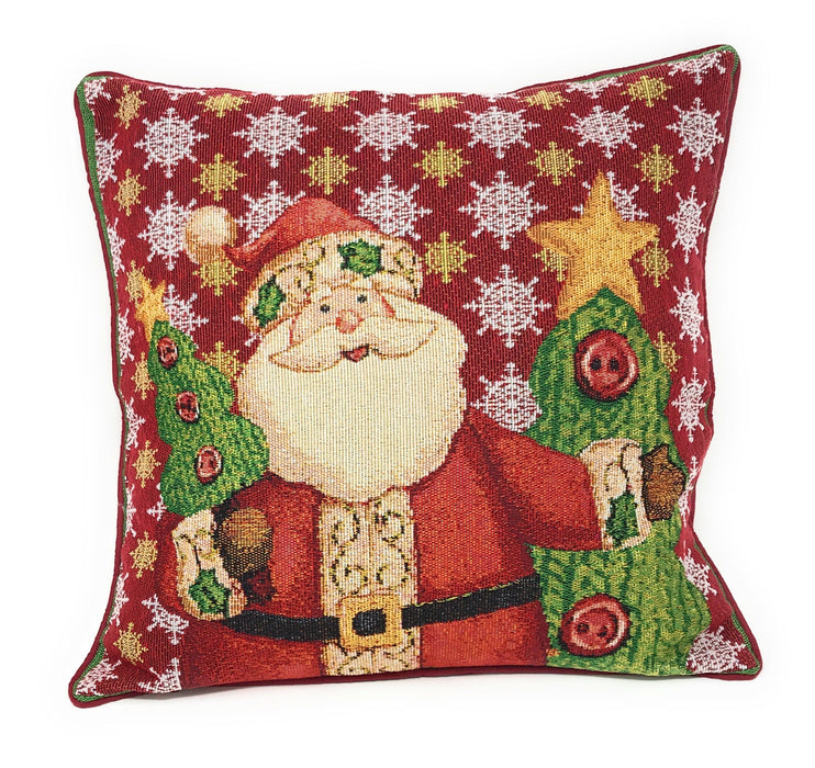 Tache Festive Christmas Cute Santa Claus Is Coming to Town Throw Pillow Cushion Cover (DB15191CC-1616) - Tache Home Fashion