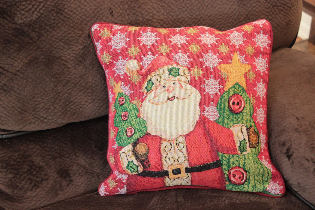Tache Christmas Cute Santa Claus Is Coming to Town Throw Pillow Cushion Cover (DB15191CC-1616) - Tache Home Fashion