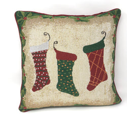 Tache Festive Christmas Holiday Hang My Stockings By the Fireplace Cushion Cover (DB12910CC-1616) - Tache Home Fashion